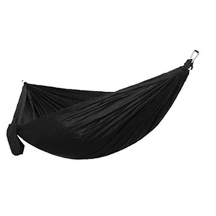 Lit de sommeil de survie de voyage de voyage de randonnée adulte adulte de hamac simple double Noir 270 * 140