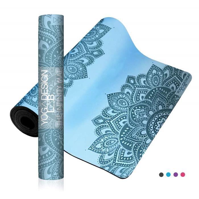 Yoga Design Lab The Infinity Mat 5mm - Texture Lisse Non Glissante pour Une stabilité et alignement Parfait - Sangle de Transport