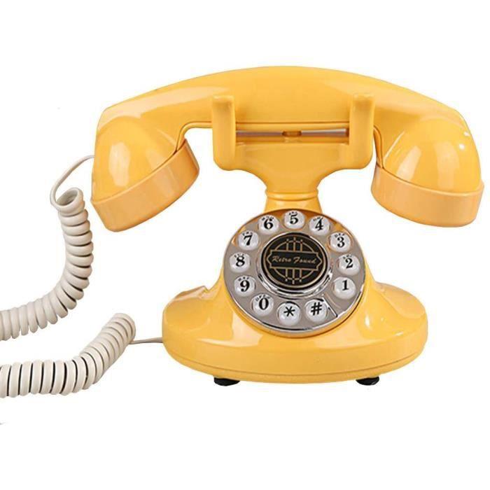 TELEPHONE FIXE eacuteleacutephone Fixe Teacuteleacutephone Vintage Classique Style Reacutetro Nostalgique Style Mignon de Style 780