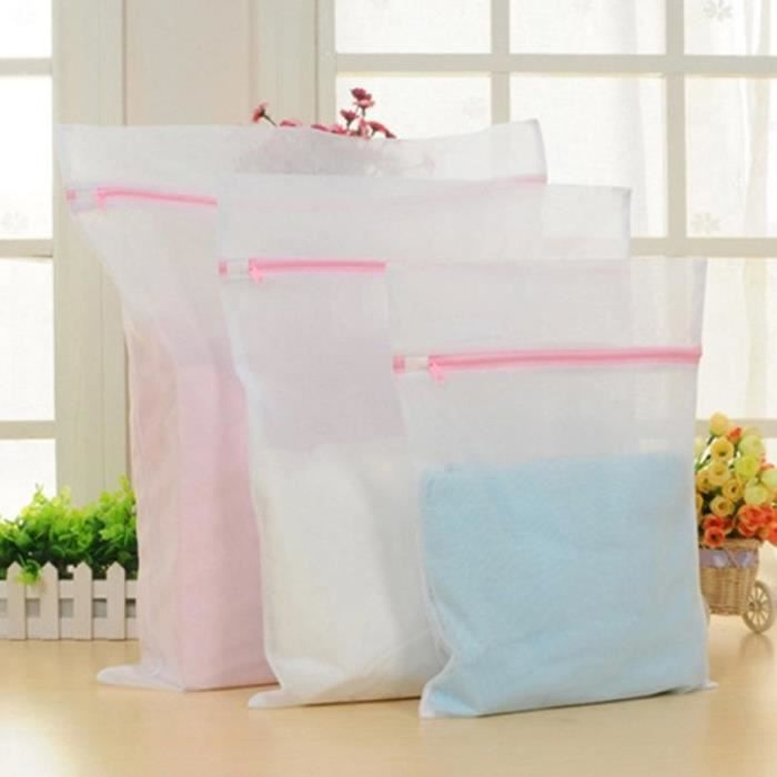 Filet De Lavage,Sacs à linge doux zippé sac de lavage blanchisserie lavage maille vêtement de dessous en tulle - Type 1pcs-S