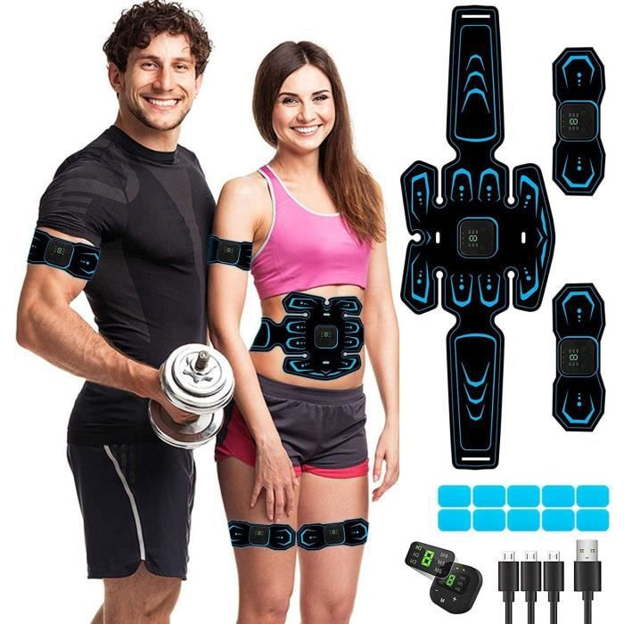 stimulateur Musculaire,Ceinture Abdominale stimulation, 6 Modes 10 Niveaux pour Stimulateur Musculaire Femme Homme Entra&i[81]