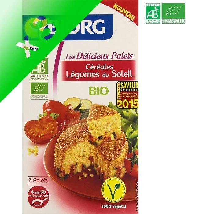 [LOT DE 3] BJORG Palets Céréales légumes Soleil Bio 200g
