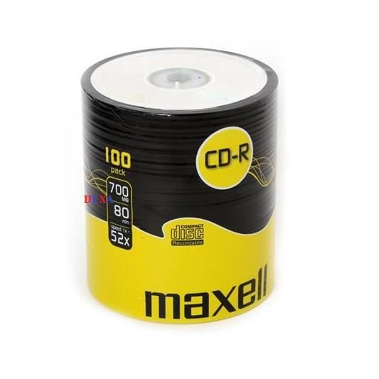 100 Cd R Vierge Maxell Spindle