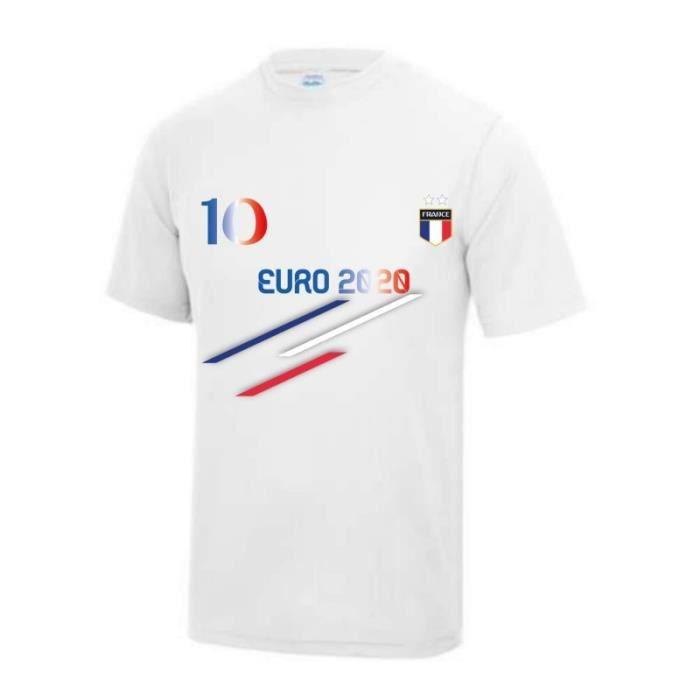 blanc Maillot - Tee shirt foot Fran