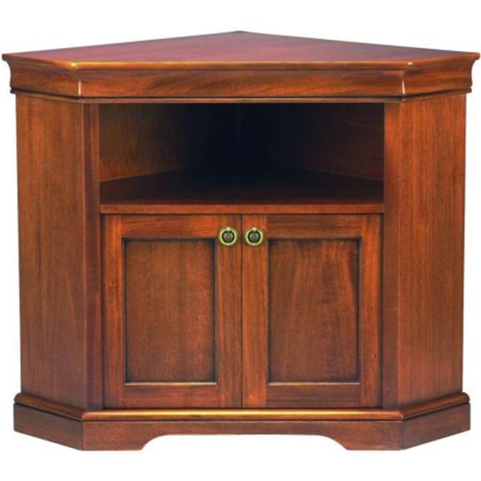 Meuble TV d'angle Louis Philippe, Dim : L960 X P670 X H790 mm