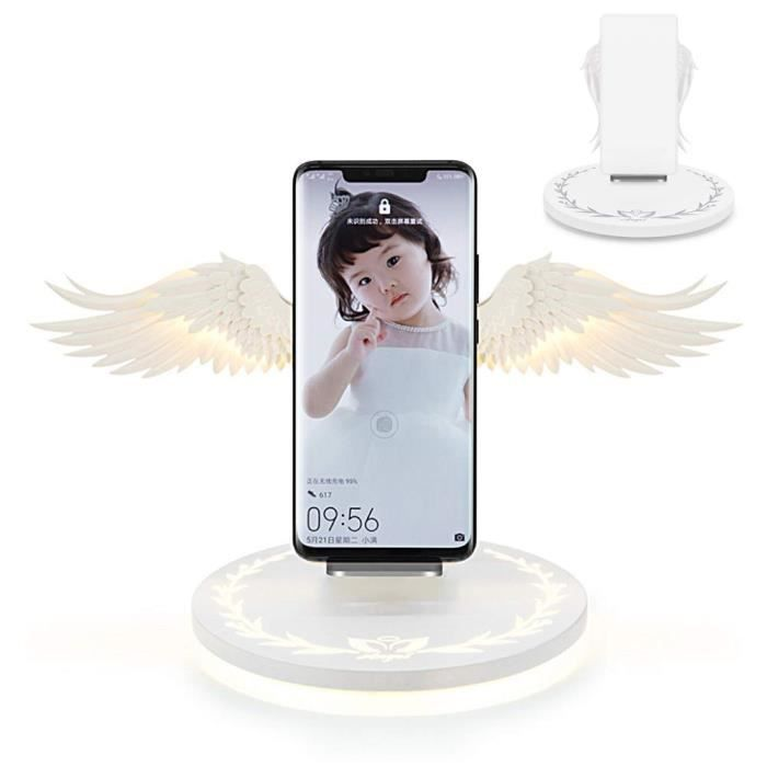 Angel Wings Support de chargeur sans fil Dock QI Support de chargement sans fil à chargement rapide - STYLE A