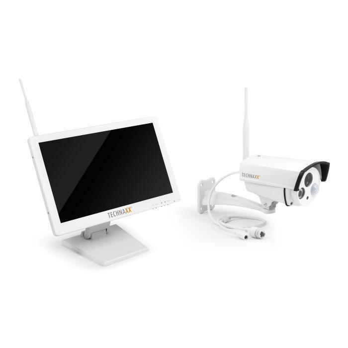TECHNAXX Premium Security Kit de surveillance avec caméra IP extérieur et moniteur 18,5- TX-30