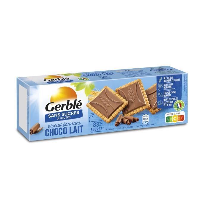 GERBLE Biscuits et tablettes de chocolat au lait - 125 g