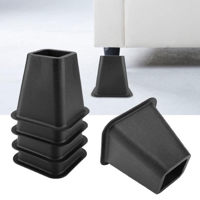 Lot de 4 rehausseurs de lit ou de meuble Pied Rehausseur de Meuble Pied de meubles Riser HB007