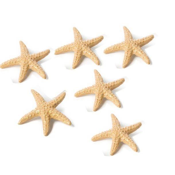 4 étoiles de mer en résines pailletées 4.5 cm,