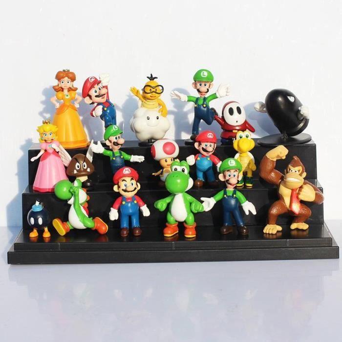 Super Mario série 3-Set de 2 Mini Figure Collection Mario Yoshi Jouet Cadeau