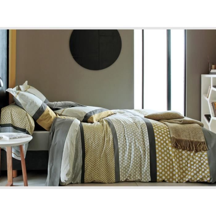 parure de lit opera cannelle blanc des vosges achat. Black Bedroom Furniture Sets. Home Design Ideas