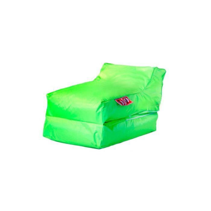 housse de pouf chauffeuse lounger vert  achat  vente