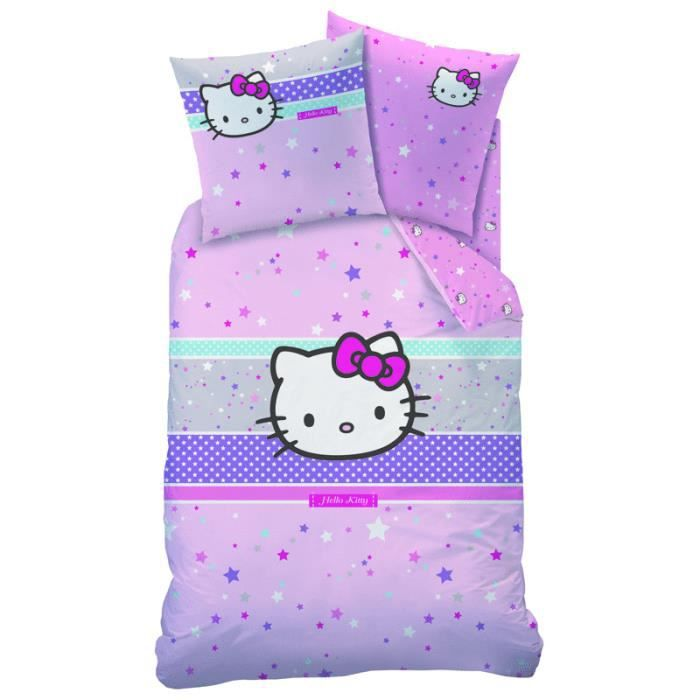 housse de couette 140 x 200 cm hello kitty ariane achat. Black Bedroom Furniture Sets. Home Design Ideas