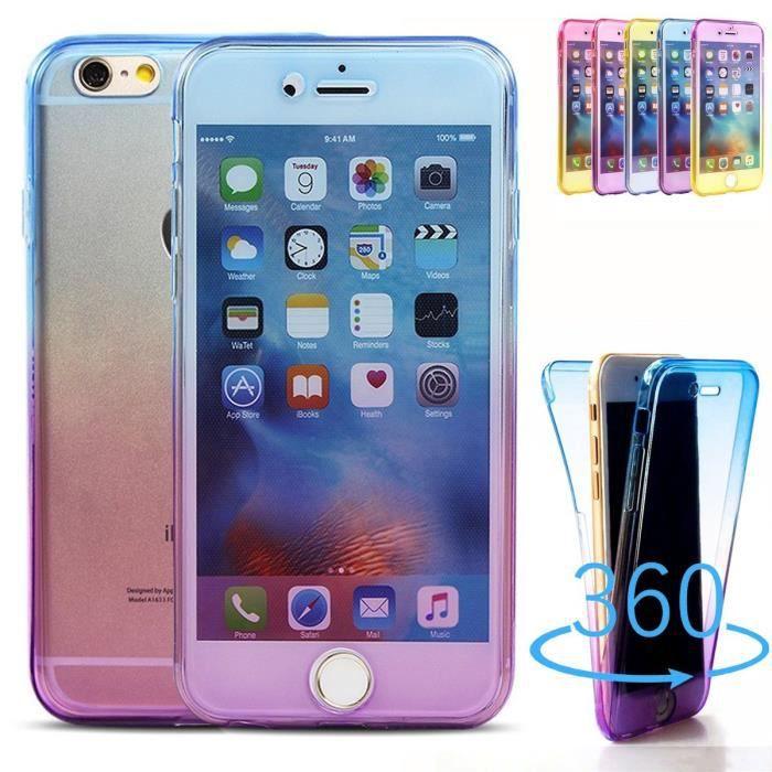 COQUE IPHONE 5C, integrale transparent bleu et rose - 1230x - réf ...