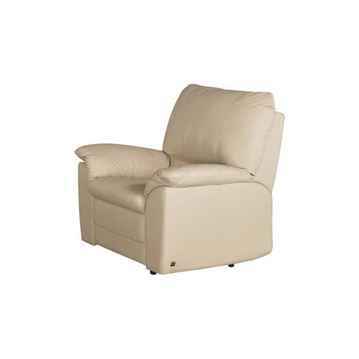 fauteuil cuir beige roma achat vente fauteuil beige cdiscount. Black Bedroom Furniture Sets. Home Design Ideas