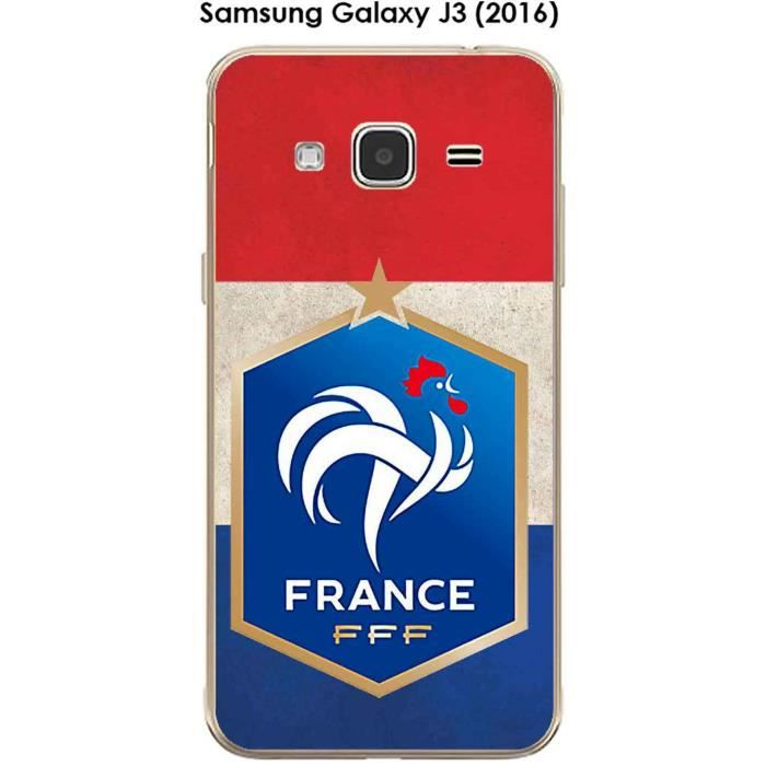 Coque Samsung Galaxy J3 2016 Design Foot France Fond