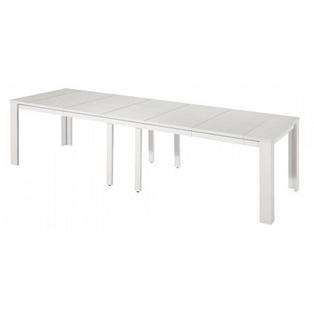 Table console extensible stella 5 rallonges blanc achat - Table console extensible 5 rallonges ...
