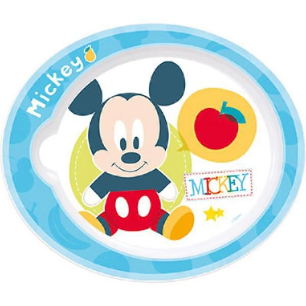 mickey et ses amis assiette plate 22 cm b b sp ciale micro ondes baby mickey achat vente. Black Bedroom Furniture Sets. Home Design Ideas