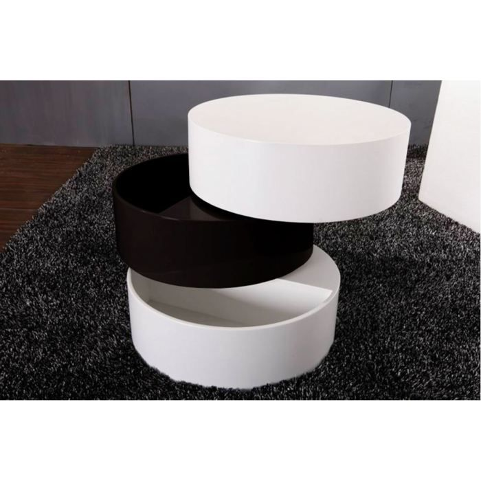 Table rabattable cuisine paris table basse blanche ronde - Table basse ronde blanche pas cher ...