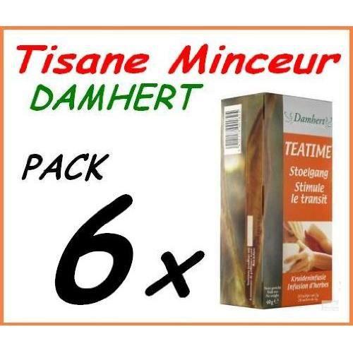COMPLÉMENT MINCEUR Tisane Minceur Régime Damhert Tea Time 6 boites