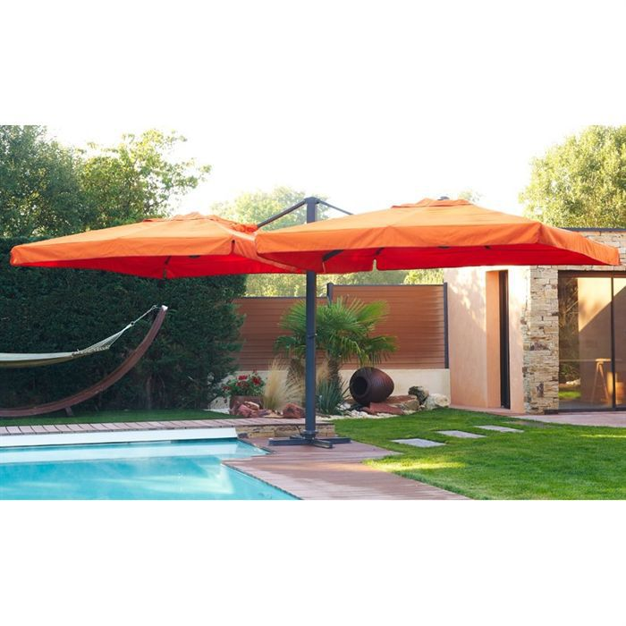 parasol deport double orange achat vente parasol. Black Bedroom Furniture Sets. Home Design Ideas