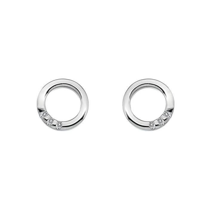 Hot Diamonds De417 Femmes Halo Boucles doreilles Crescent