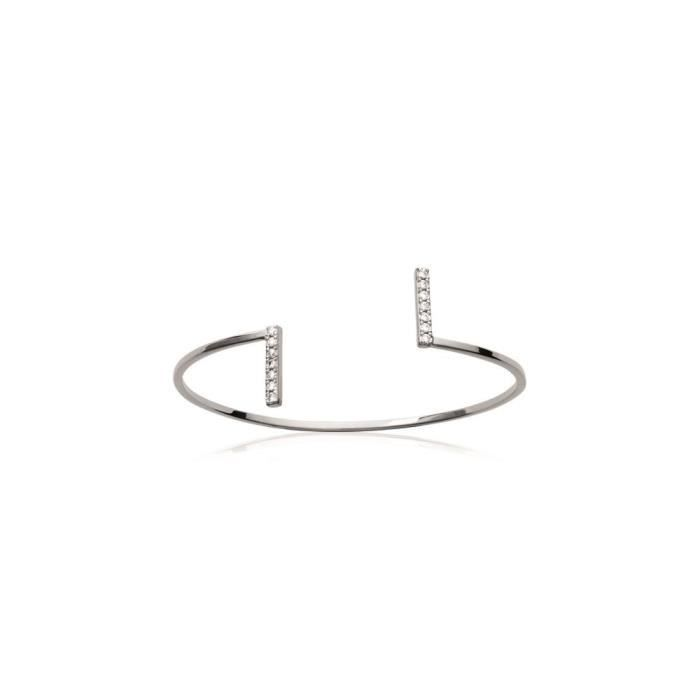 bracelet argent strass femme