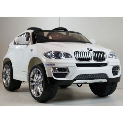 voiture lectrique pour enfant 4x4 bmw x6 blanc achat. Black Bedroom Furniture Sets. Home Design Ideas
