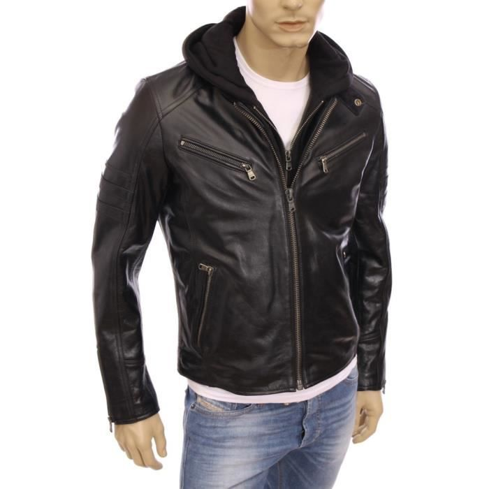 blouson a capuche cuir homme redskins achat vente blouson a capuche cuir homme redskins pas. Black Bedroom Furniture Sets. Home Design Ideas