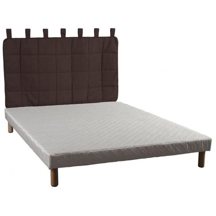 t te de lit en tissu matelass chocolat 90 cm achat vente t te de lit cdiscount. Black Bedroom Furniture Sets. Home Design Ideas