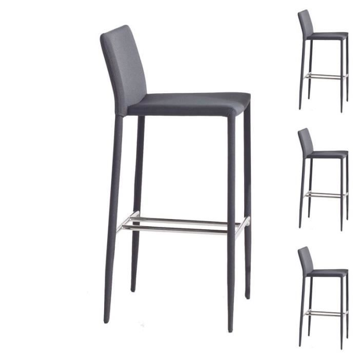 tabouret de bar gris anthracite achat vente tabouret de bar gris anthracite pas cher les. Black Bedroom Furniture Sets. Home Design Ideas