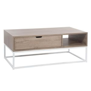 Table Salon Rec Bs/Met Nat/Bl 110x60x43cm