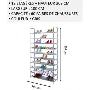 MEUBLE ÉTAGÈRE Meuble Chaussures,No48, Modulable 2 14 Étagères (1