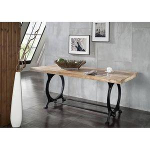 TABLE À MANGER SEULE Table à manger 200x100 cm - Fer et bois massif rec