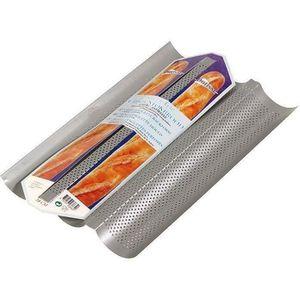 MOULE  PATISSE Moule 3 baguettes antiadhésif en acier rev