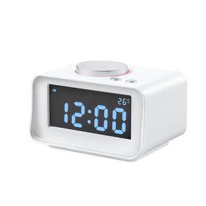 Radio réveil Réveil USB radio-réveil avec fonction Snooze, lumi