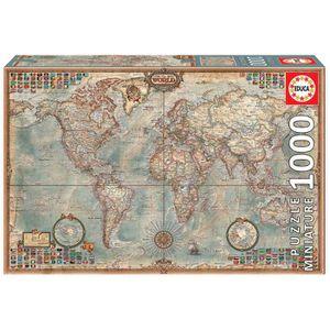 PUZZLE EDUCA - Puzzle Le Monde 1000 pièces