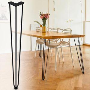 PIED DE MEUBLE Lot de 4 pieds de table en épingle 71 cm style des