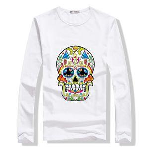 Hommes Shirt T-shirt Slim Fit Kingz taille S-Skull Tete de mort NOIR ARGENT NEUF