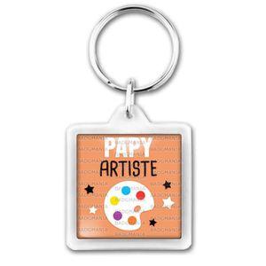 PORTE-CLÉS Porte-Clés Carré Plastique Papy Artiste - Palette