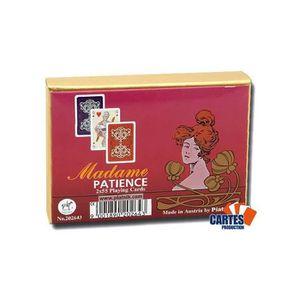 CARTES DE JEU Madame Patience - 2 jeux de 52 cartes