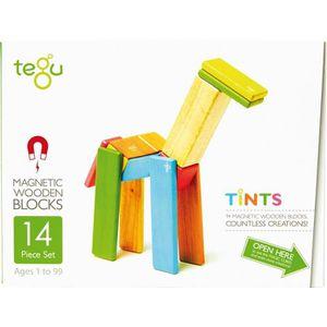 ASSEMBLAGE CONSTRUCTION TEGU Tints 14 Pièces colorées - Blocs de bois aima
