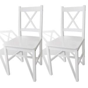 CHAISE 2pcs Chaises ergonomique de Salle à Manger ou cuis