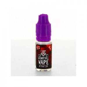 LIQUIDE Attraction Vampire Vape 10ml Lot De 5  3 mg - 3 mg