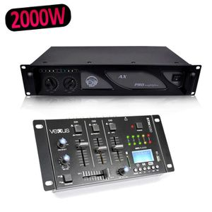 TABLE DE MIXAGE Vexus STM3030 Table de mixage 4 canaux USB-MP3-BT-