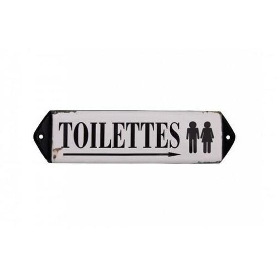 Plaque en Tôle Salle de Bain Propre Toilettes Porte Mur Bouclier Métal Rétro