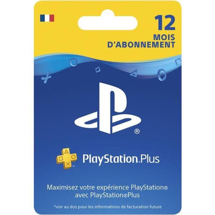 Carte abonnement Playstation Plus 12 mois