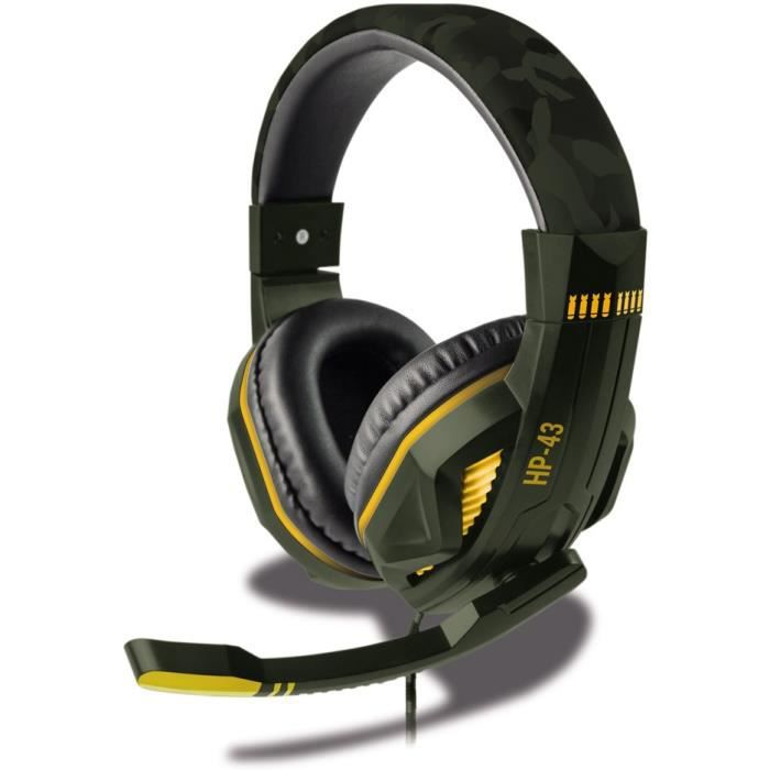 Casque Filaire SteelPlay HP43 Green Camouflage - Multiplateforme