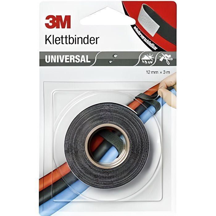3m Bande Velcro Universelle 12mm X 3 M Noir Gris 661939 Cdiscount Bricolage